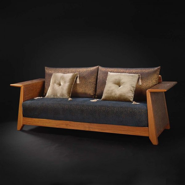 Classic Fabric Wood Sofa 3d Model 3dsmax Files Free