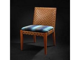 Antique classic wooden leisure chair 3d model