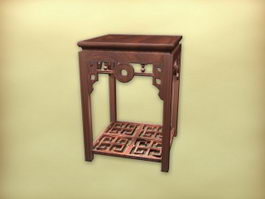 Chinese antique furniture side table 3d model