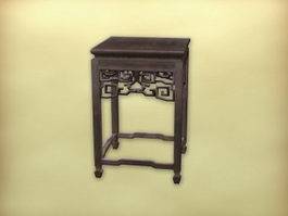 Chinese furniture antique end table 3d model