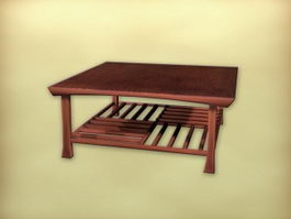 Chinese furniture square tea table 3d model