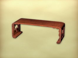 Chinese furniture antique tea table 3d model