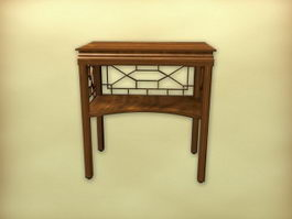 Chinese furniture antique side table 3d model