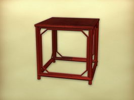 Small antique side table 3d model