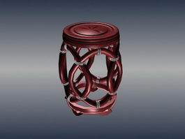 Chinese furniture decorative stool 3d model