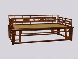 Antique chinese bench 3d model