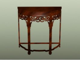 Chinese furniture carved console table 3d model