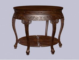 Chinese furniture antique round table 3d model