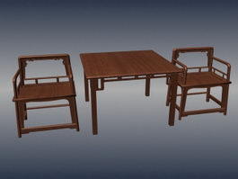 Chinese style antique furniture sets 3d model