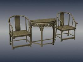Chinese antique living room sets 3d model