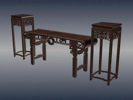 Chinese antique sacrificial altar furniture 3d model