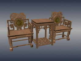 Chinese antique Ming and Qing furniture 3d model
