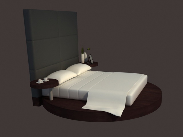 Modern designs round bed 3d model 3dsmax files free for Round bed design images