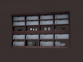 Modern bookcase book rack display 3d model