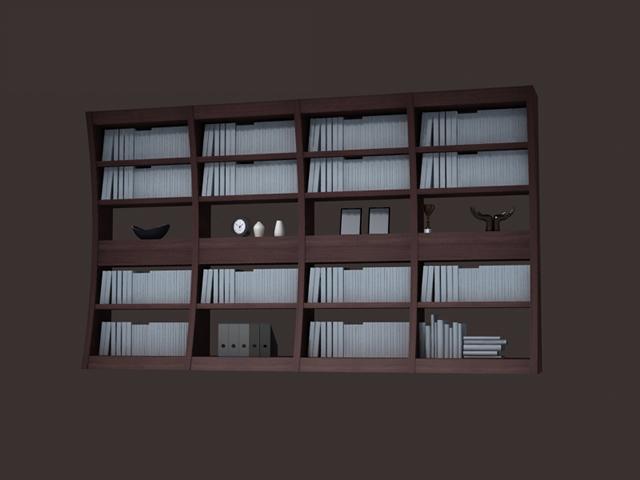 modern bookcase book rack display 3d model 3dsmax files