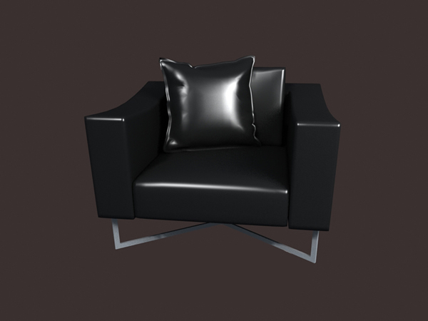 Chrome Legs Leather Sofa 3d Model 3dsmax Files Free Download