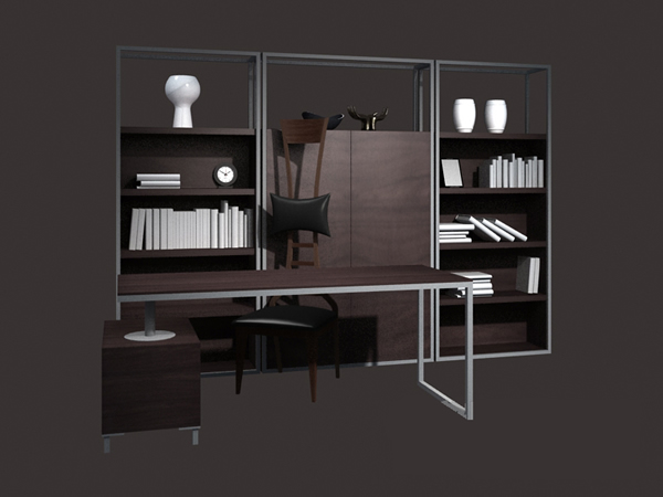 Modern office furniture set 3d model 3dsmax files free download ...