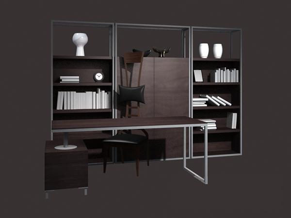 free office furniture. Modern Office Furniture Set 3d Model Free