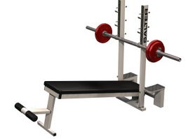 Declined bench press 3d model