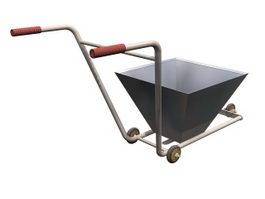 Lane marker cart 3d model