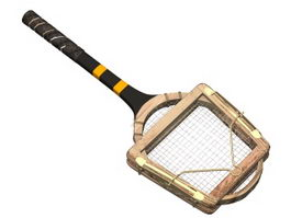 Carbon beach tennis racket 3d model