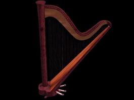 Bow harp 3d model