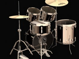 Ludwig-Musser drums 3d model