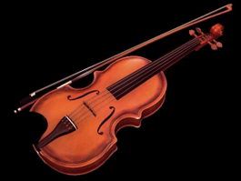 Fiddle Violin 3d model