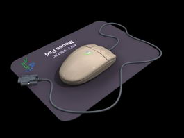 Computer mouse 3d model