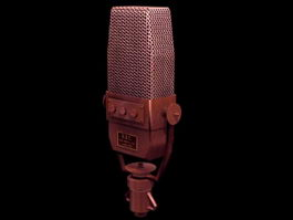 Electret microphone 3d model