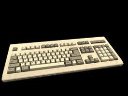 PC 102 Keyboard 3d model