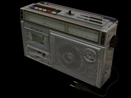 Sanyo radio and cassette player 3d model