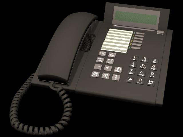 Black Telephone 3d Model 3dsmax Files Free Download