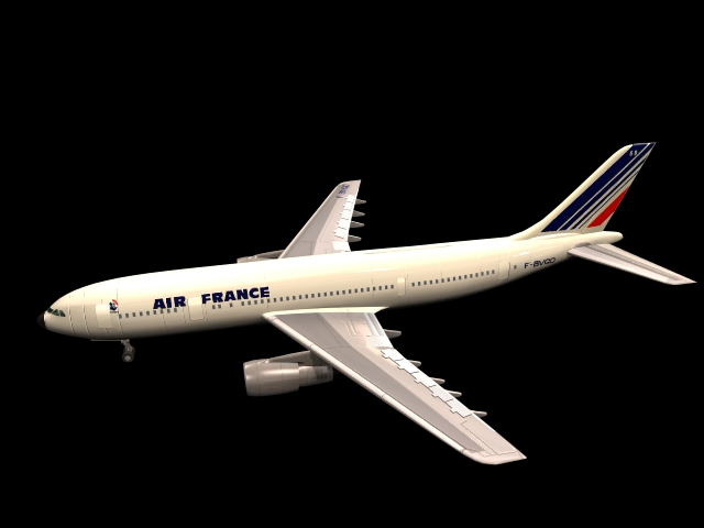 Airbus A300 Jet Airliner 3d Model 3dsmax Files Free