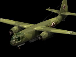 Arado Ar 234 fighter-bomber 3d model