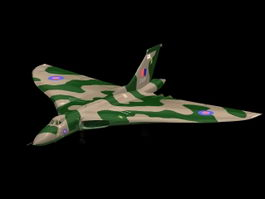 Avro Vulcan B.2 Strategic bomber 3d model