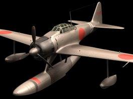 Mitsubishi A6M2 Zero Fighter 3d model
