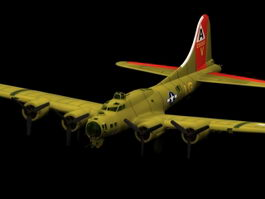 Boeing B-17 Heavy bomber 3d model