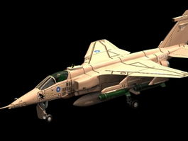 SEPECAT Jaguar ground attack aircraft 3d model