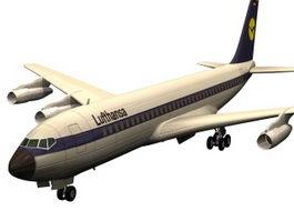Boeing 707 jet airliner 3d model