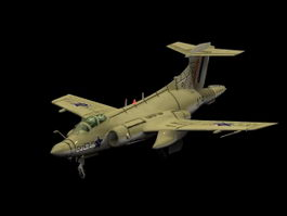 Blackburn Buccaneer Strike aircraft 3d model