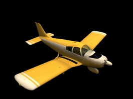 Piper PA-28 Cherokee aircraft 3d model