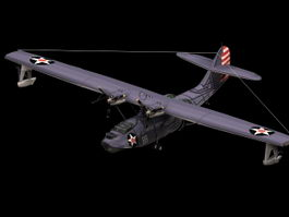 Consolidated PBY5 Catalina Flying boat 3d model