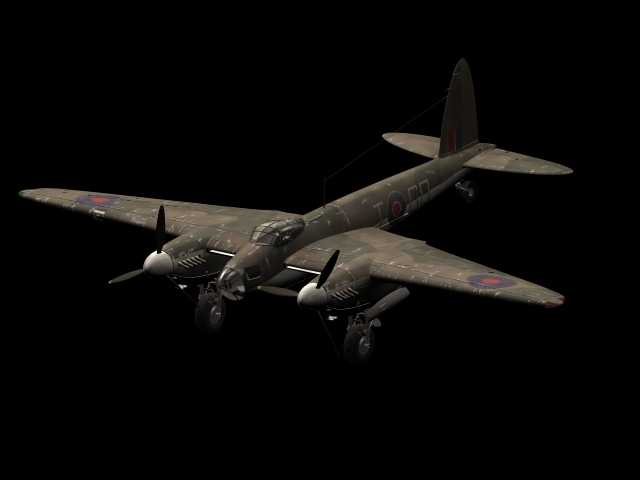 De Havilland Mosquito combat aircraft 3d model - CadNav