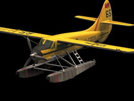 Canada DHC-3 Otter transport aircraft 3d model