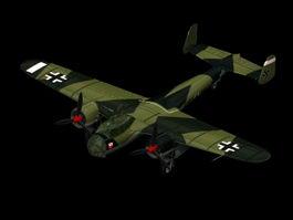 Dornier Do 17 light bomber 3d model