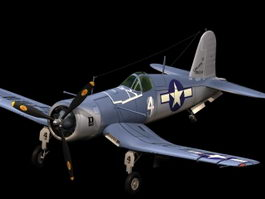 Vought F4U Corsair fighter 3d model