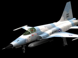 F-5E Tiger II fighter aircraft 3d model