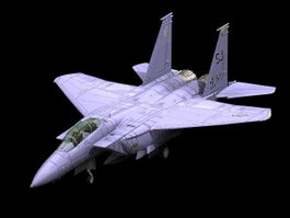 F-15E Strike Eagle multirole fighter 3d model