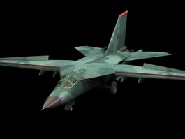 F-111 Aardvark fighter aircraft 3d model